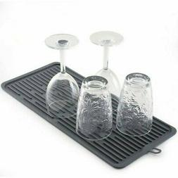 """Norpro 18.5"""" x 8"""" Silicone Dish Drying Kitchen Countertop Dr"""