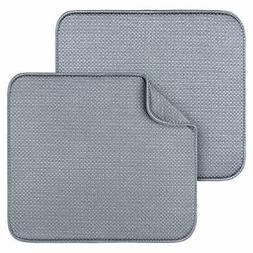 2 Pack Dish Drying Mats for Kitchen, Dish Drying Rack, Kitch