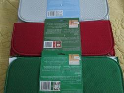 3 New Reversible The Original Dish Drying Mats 16x18 Red Gre