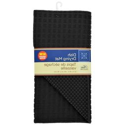 Home Collection Absorbent Fast Drying Black Microfiber Dish