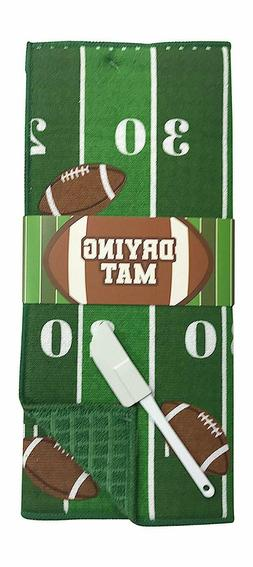 Football Field Reversible Dish Drying Mat for Kitchen Counte