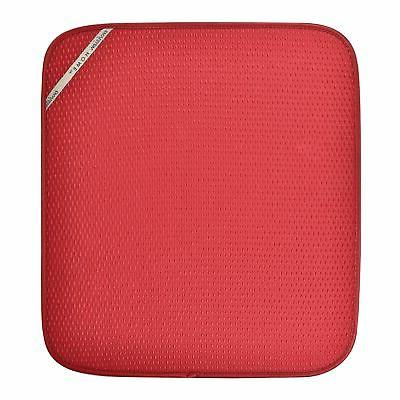 """Envision Home Red DISH DRYING MAT 16"""" x 18"""" Absorbent Microf"""