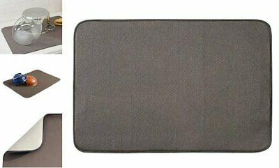 idesign idry absorbent kitchen countertop dish drying