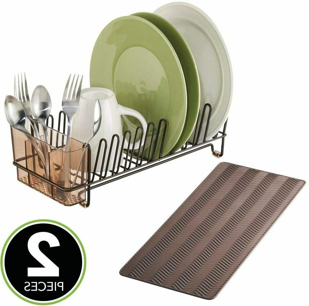 new compact kitchen countertop sink dish drying