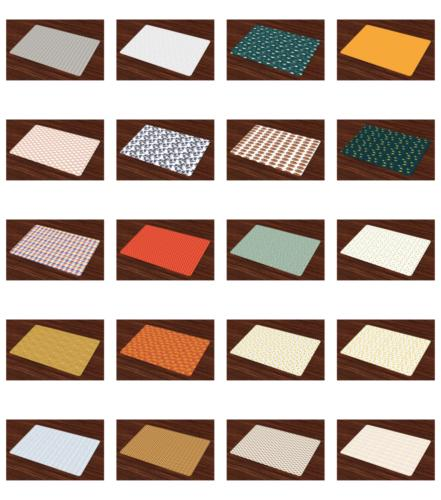 place mats group of 4 fabric placemats