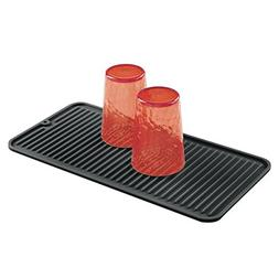 mDesign Silicone Kitchen Countertop Dish Drying Mat - Small