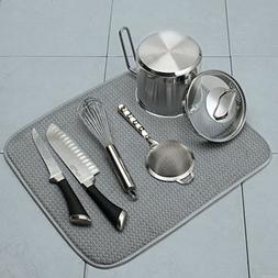 Norpro Dish Plate Glass Drying Mat - Gray - 16 X 18 Inches -