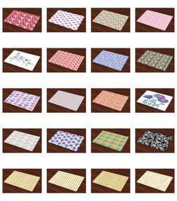 Ambesonne Place Mats 4 pcs Set Fabric Placemats Dining Room