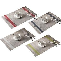Quick-drying PVC Placemats Insulation Mats Coasters Kitchen/