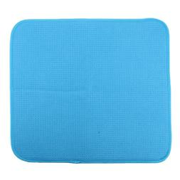 Reversible Dish Drying Mat for Kitchen Counter, Absorbent Dr