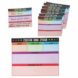 Roots & Affixes Build-A-Word Dry Erase Mats - Educational -