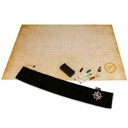 ENHANCE RPG Grid Mat - Tabletop DND Map 24x36 inch Role Play