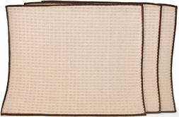 Set of 3 Super Absorbent Dish Drying Mat in Light Brown