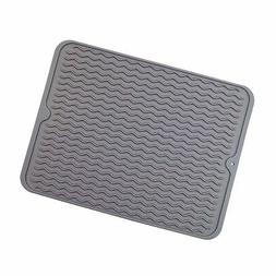 Silicone Dish Drying Mats for Kitchen Counter, Heat Resistan