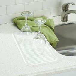 mDesign Silicone Kitchen Dish Drying Mat and Protector, Smal