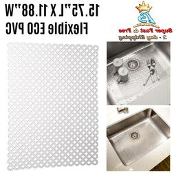 Kitchen Sink Clear Surface Dish Dent Protector Quick Drainin