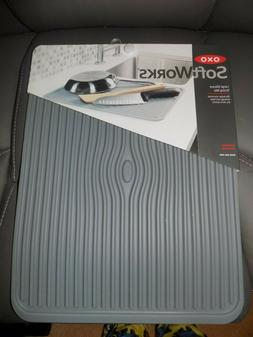 OXO Softworks Large Silicone Gray Drying Mat 16.125x12.125x.